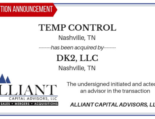 Transaction Announcement: Nashville HVAC Company