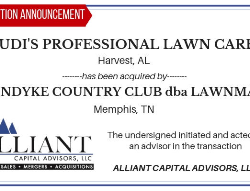 Transaction Announcement: LAWNMAN / Judi's Professional Lawn Care