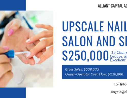 AVAILABLE BUSINESS: Upscale Nail Salon & Spa